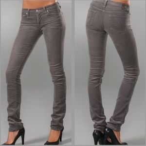 AG The Premiere Skinny Straight Corduroy Pants